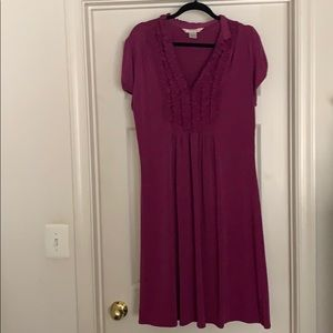 Fuchsia short sleeve dress